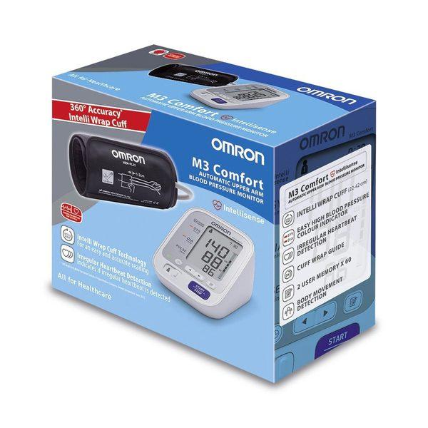Omron M3 Comfort - електронен апарат за мерене на кръвното налягане - кутия