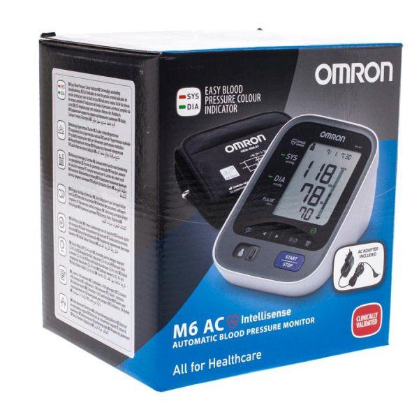 Омрон М6 AC - автоматичен елетронен апарат за измерване на кръвното налягане - кутия