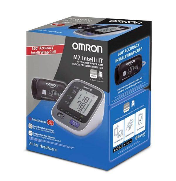 Omron M7 INTELLI IT - автоматичен апарат за кръвно налягане - кутия