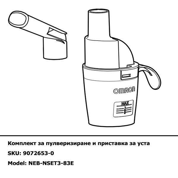 Комплект за пулверизиране и приставка за уста за инхалатор C803